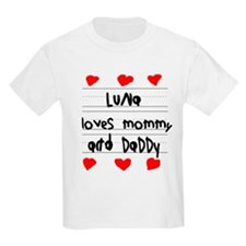 Luna Loves Mommy and Daddy T-Shirt