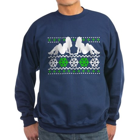 Funny Ugly Christmas Sweater Sweatshirt (dark)