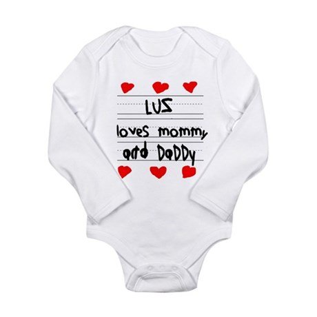 Luz Loves Mommy and Daddy Long Sleeve Infant Bodys