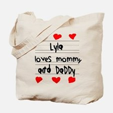 Lyla Loves Mommy and Daddy Tote Bag