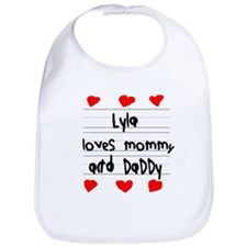 Lyla Loves Mommy and Daddy Bib