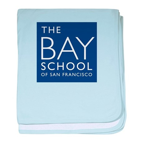 The Official logo of the Bay School baby blanket
