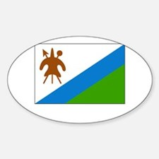 Lesotho Flag Picture Oval Decal