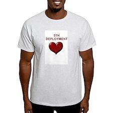 5th deployment Ash Grey T-Shirt