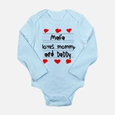 Malia Loves Mommy and Daddy Long Sleeve Infant Bod