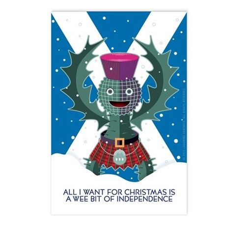 Indy Christmas Postcards (Package of 8)