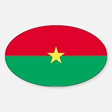 Burkina Faso Oval Decal