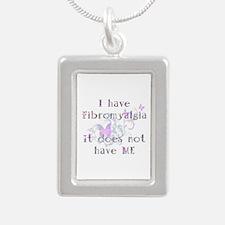 Fibrolmyalgia Awareness Silver Portrait Necklace