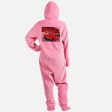 Ida Firetruck Footed Pajamas