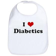 I Love Diabetics Bib