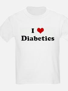 I Love Diabetics Kids T-Shirt