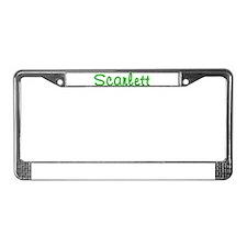 Scarlett Glitter Gel License Plate Frame
