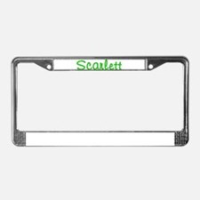 Scarlett Glitter Gel License Plate Frame
