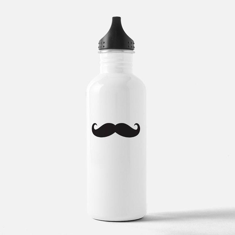 Mustache Water Bottle