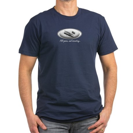 Wright Brothers Centennial Men's Fitted T (Dark)