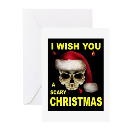 SCARY CHRISTMAS Greeting Cards (Pk of 10)