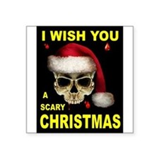 "SCARY CHRISTMAS Square Sticker 3"" x 3"""