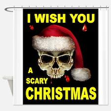 SCARY CHRISTMAS Shower Curtain
