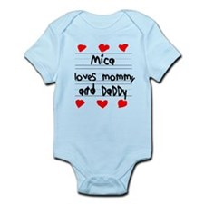 Mica Loves Mommy and Daddy Onesie