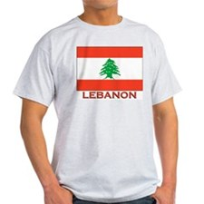 Flag of Lebanon Ash Grey T-Shirt