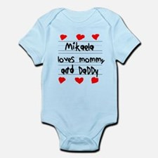 Mikaela Loves Mommy and Daddy Infant Bodysuit