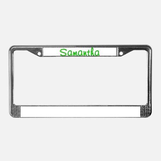 Samantha Glitter Gel License Plate Frame