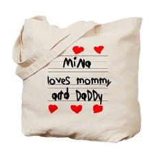 Mina Loves Mommy and Daddy Tote Bag