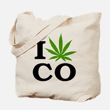 I Love Cannabis Colorado Tote Bag
