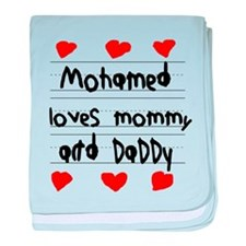 Mohamed Loves Mommy and Daddy baby blanket
