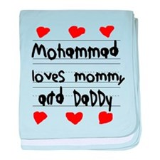 Mohammad Loves Mommy and Daddy baby blanket