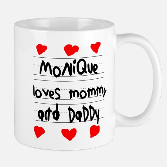 Monique Loves Mommy and Daddy Mug