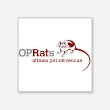 "OPRats Square Sticker 3"" x 3"""