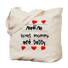 Nadine Loves Mommy and Daddy Tote Bag