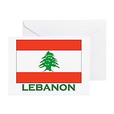 Lebanon Flag Gear Greeting Cards (Pk of 10)