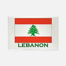 Lebanon Flag Gear Rectangle Magnet
