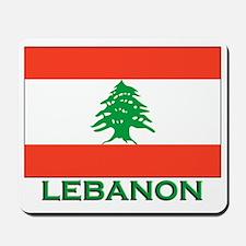 Lebanon Flag Gear Mousepad
