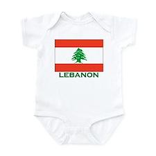 Lebanon Flag Gear Infant Bodysuit