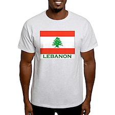 Lebanon Flag Gear Ash Grey T-Shirt