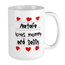 Natalia Loves Mommy and Daddy Mug