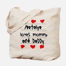 Natalya Loves Mommy and Daddy Tote Bag