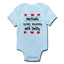 Nathalie Loves Mommy and Daddy Infant Bodysuit