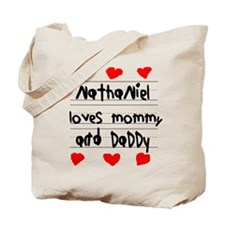 Nathaniel Loves Mommy and Daddy Tote Bag
