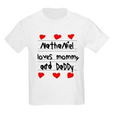Nathaniel Loves Mommy and Daddy T-Shirt