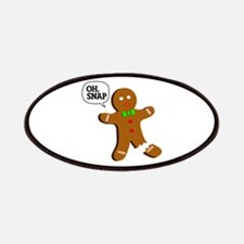 Oh, Snap! Funny Gingerbread Christmas Gift Patches