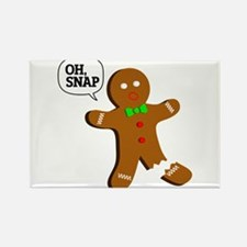 Oh, Snap! Funny Gingerbread Christmas Gift Rectang