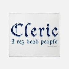 Cleric I Rez Dead People Throw Blanket