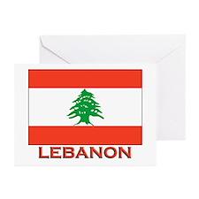 Lebanon Flag Merchandise Greeting Cards (Package o