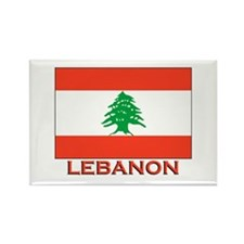 Lebanon Flag Merchandise Rectangle Magnet