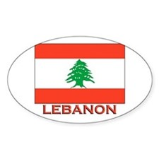 Lebanon Flag Merchandise Oval Decal