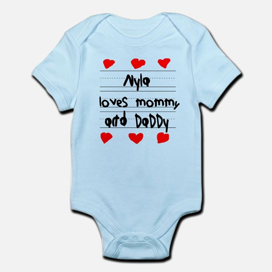 Nyla Loves Mommy and Daddy Infant Bodysuit
